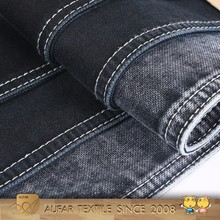 3391A322 High quality stock cotton polyester elastane black denim fabric