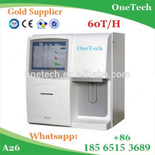 Cheapest Blood cell analyzer fully automatic / 60 tests/h CBC machine / Low hematology analyzer price A26