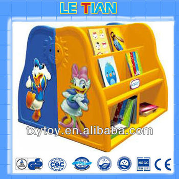 2013 New design children plastic bookshelf for sale LT-2151K