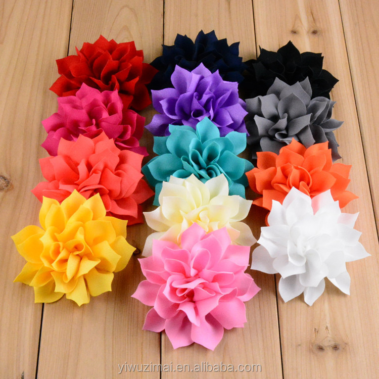 Multi-layer sharp angle lotus flower high quality handmade hair flowers making