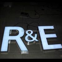 frontlit led illuminated resin letter sign led flat light up letter for shop LOGO display