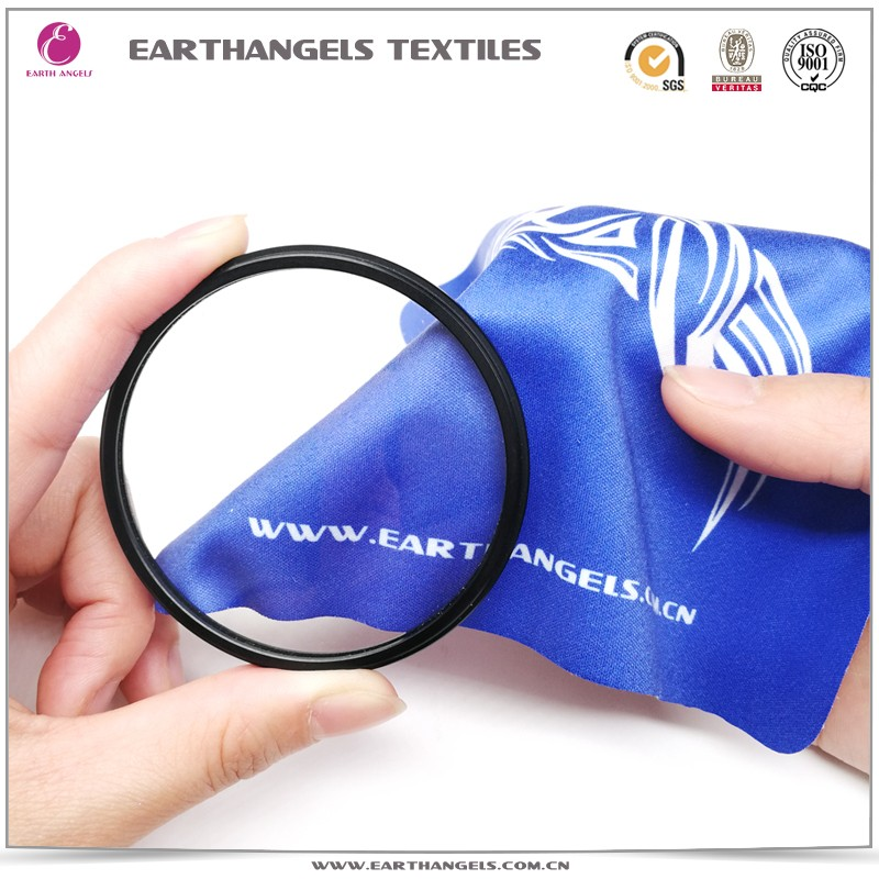 silk screen printing microfiber camera filter lens cleaning cloth