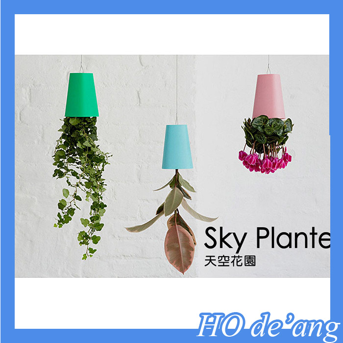 HOGIFT Cretive and Novelty Upside-down Plant Pot/Magic Sky Plant/Office Plant