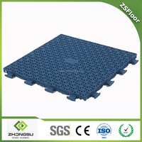 ZSFloor outdoor interlocking sports court flooring used for basketball court