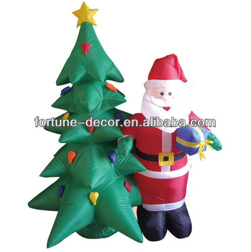 180cm high Christmas tree with Santa