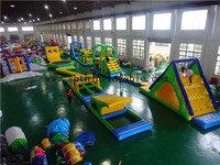Giant inflatable water obstacle course, inflatable floating water toy