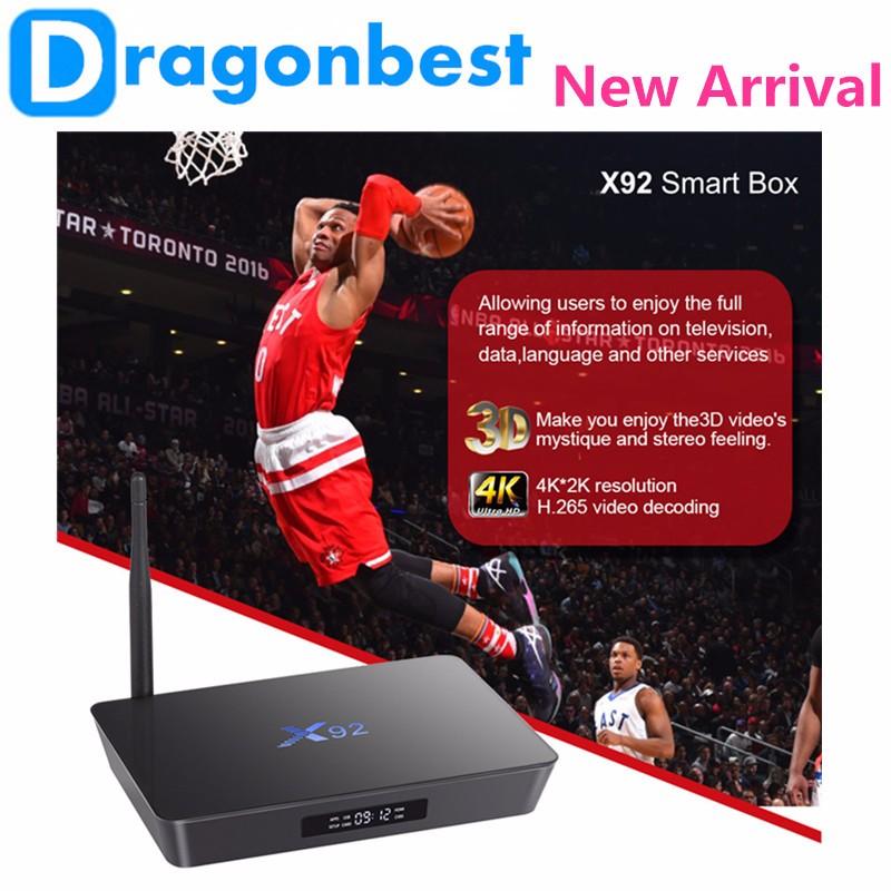 2016 cheapest s912 tv box Android 6.0 Amlogic S912 Octa Core 2gb Ram 16gb Rom 4 USB port display Android TV BOX X92