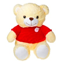 34cm Cartoon Word Letter I LOVE YOU in Jacket Red Clothes Teddy Bear Ted Plush Toys Soft Animals Dolls Gift Present Christmas