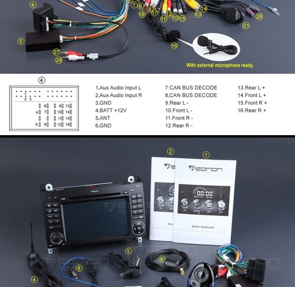 EONON GM5160 7 Inch Digital Touch Screen GPS/Car DVD Player with Screen Mirroring For Mercedes-Benz A-Class/B-Class
