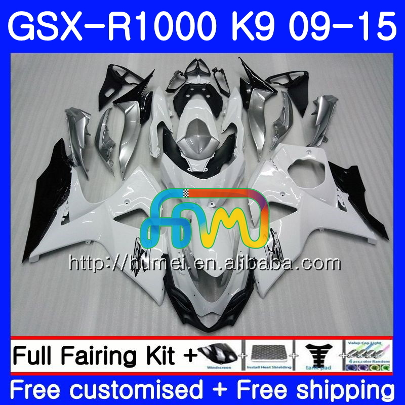 Fairing For SUZUKI white black GSX-<strong>R1000</strong> GSXR 1000 09 10 11 12 13 15 74HM14 GSX <strong>R1000</strong> K9 GSXR1000 2009 2010 2011 2012 2014 2015