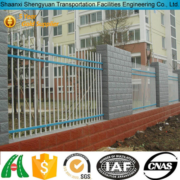 Double Anti-Corrosion Colourful Solid Metal Fence Panel