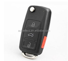 Plastic silca key blanks 3+1 button Flip remote key shell for audi A8 A8L