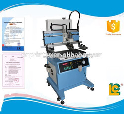 LC-700P Simple operation semi- automatic pneumatic flatbed screen printer with T-slot work table supplies for T-shirt printing