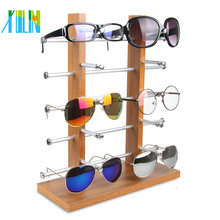 XULIN Shop Fitting Wen Zhou Hot Sell Acrylic Sunglasses Tray Holder Bamboo Suitcase Rotating Glasses Display Stand Rod