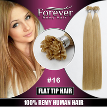 2017 alibaba express beauty hair forever flat tip remy hair extensions