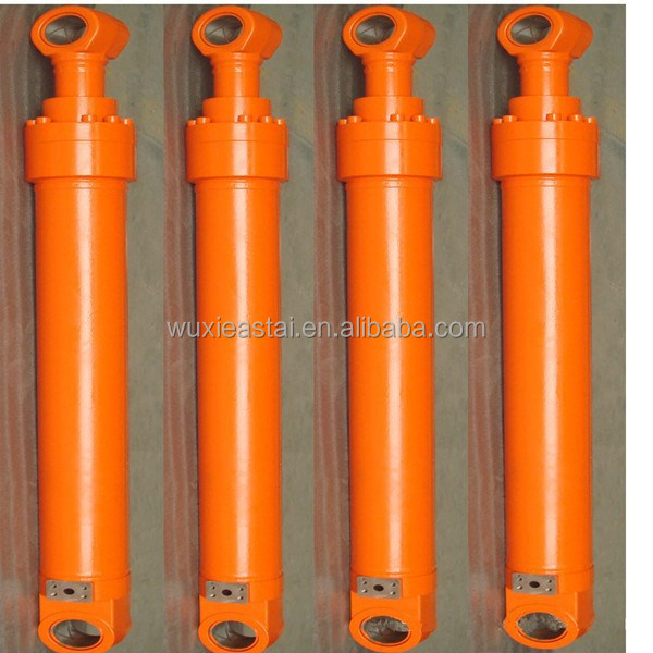 mobile telescopic single acting hydraulic cylinder for tractor trailer
