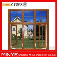 Chinese style hand crank swing window with grill design
