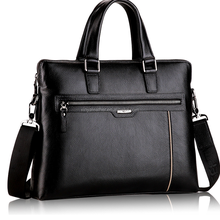 Genuine Cow Leather Men's Bags Leather Office Bags For Man