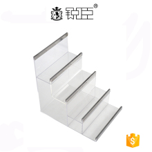 retail store 4 tier acrylic wallet display stand made in china