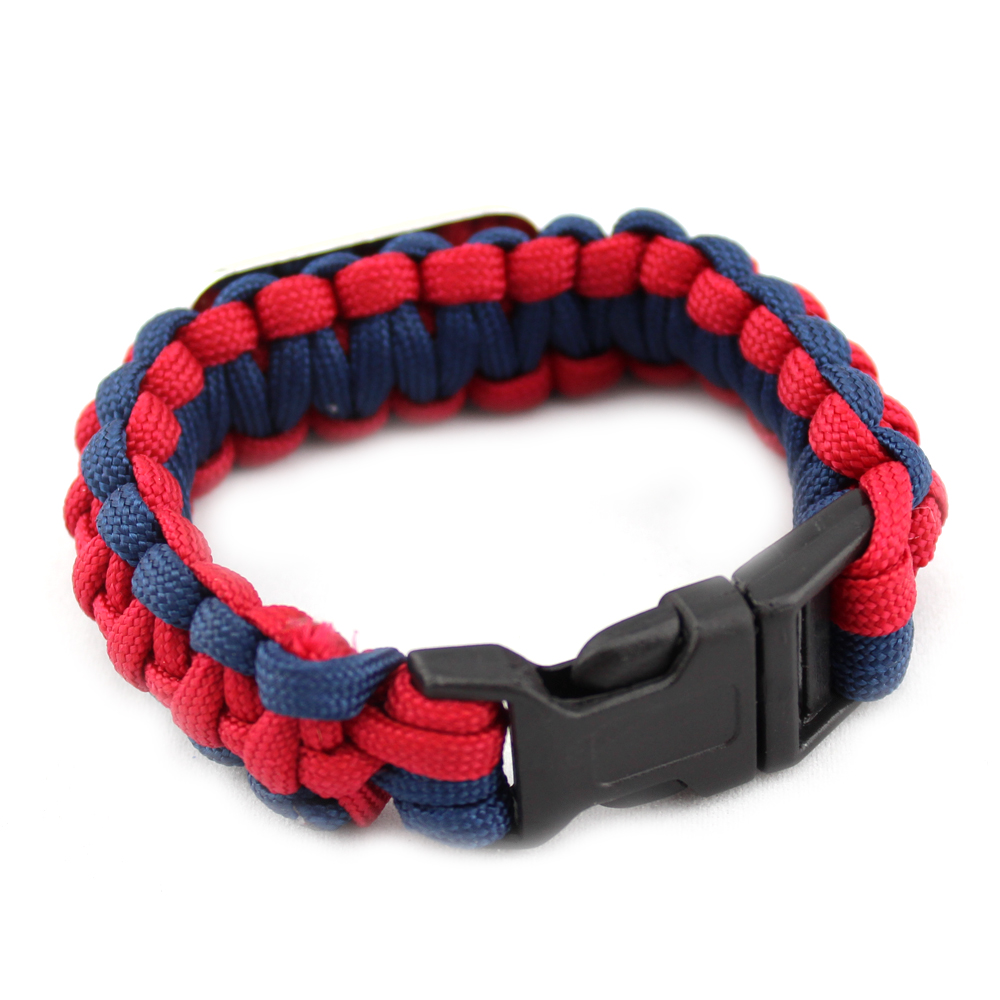 vintage paracord braid survival bracelet with ALABAMA(R)CRIMSON TIDE