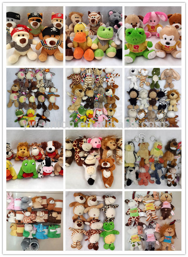 ODM OEM animal bear head plush baby rattle / environmental baby gift toys rattle