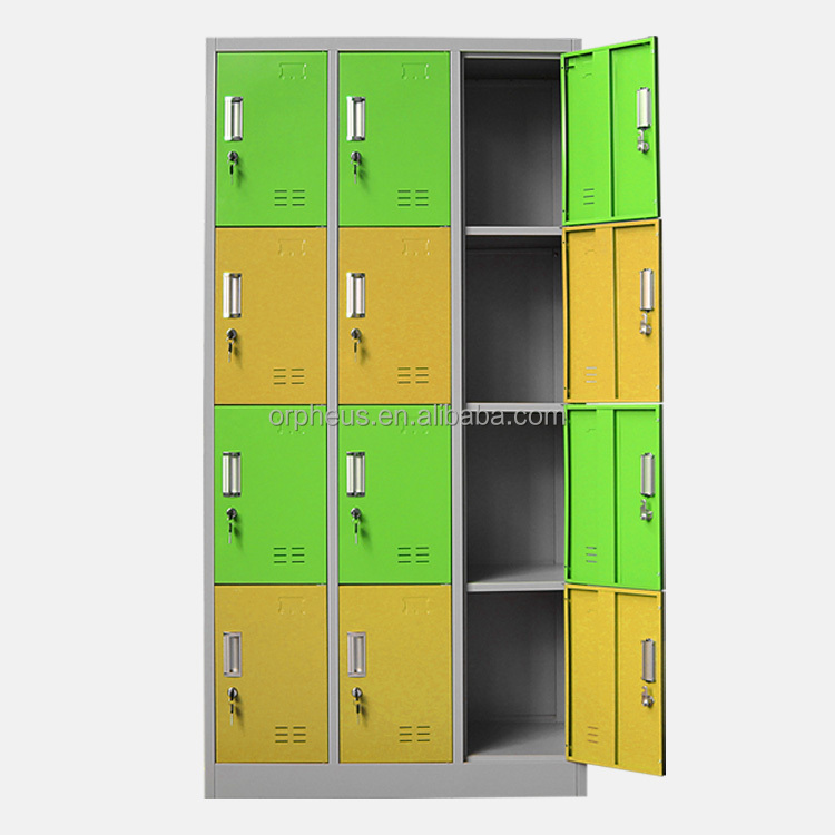 Multiple function 12 door clothes storage metal closet design