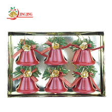 Yiwu Supplier Hot Sale Xmas Tree Haning Decorative Red Christmas Iron Bell