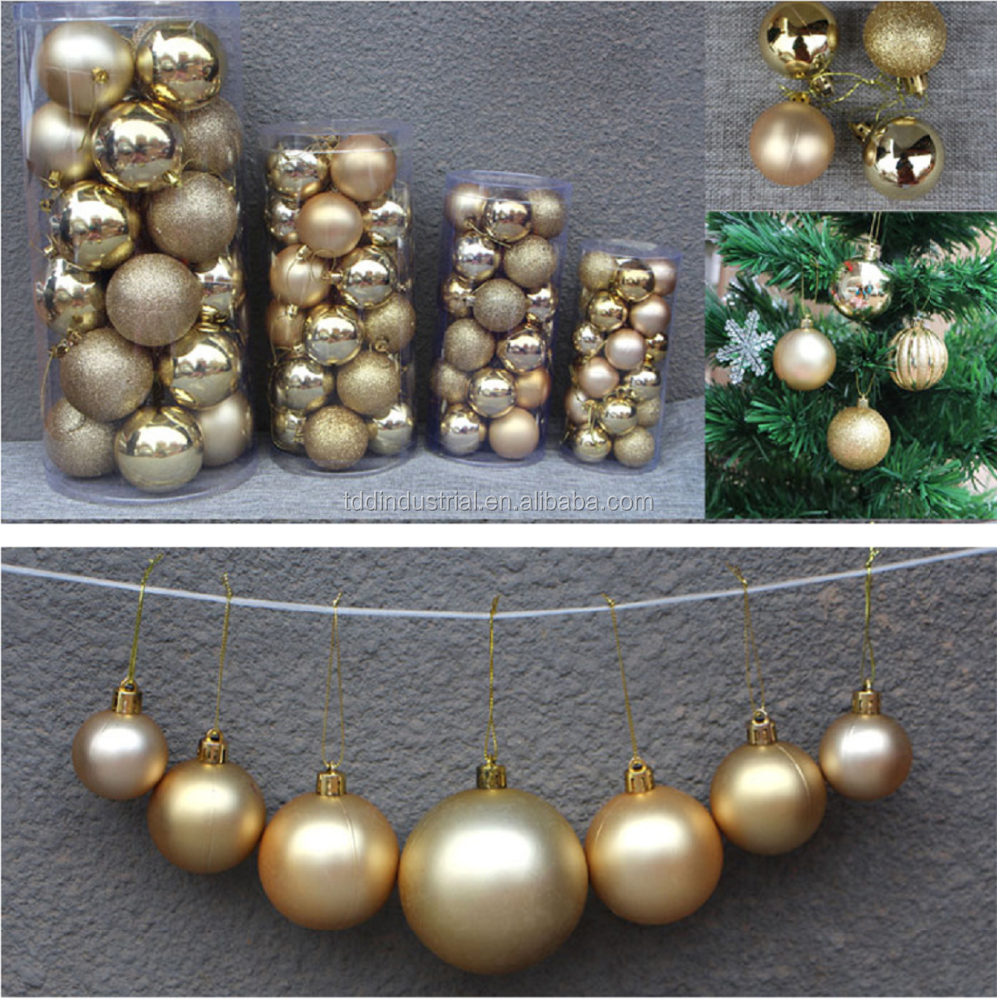 24 Shatterproof Christmas Ornament Balls - Christmas Ornaments For Christmas Tree Home Wedding Or Parties Decorative Ball