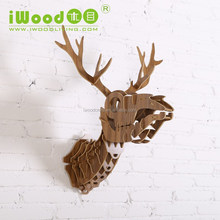 wooden animal bones style home decoration, mdf head bones