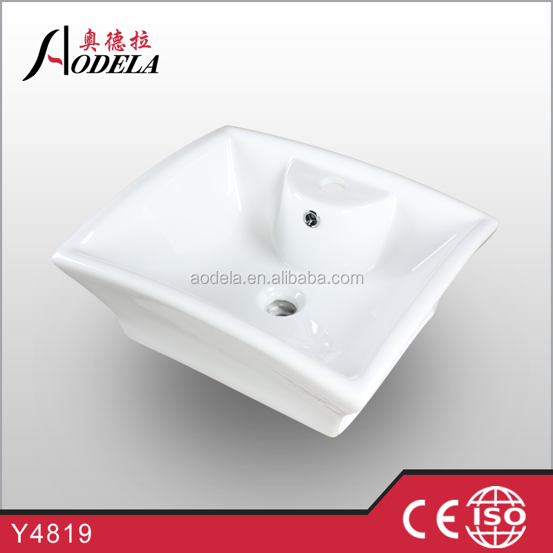 2015 high quality ceramic basin with white color Y4819