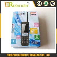 NEW Original H-mobile X8 4 SIM Cards Mobile Phone Quad SIM Power Bank Cell Phone Walkie Talkie Long Standby Russian