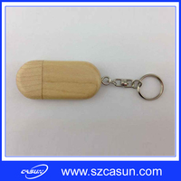 2016 New Products 8GB Wood USB Stick with Keychain