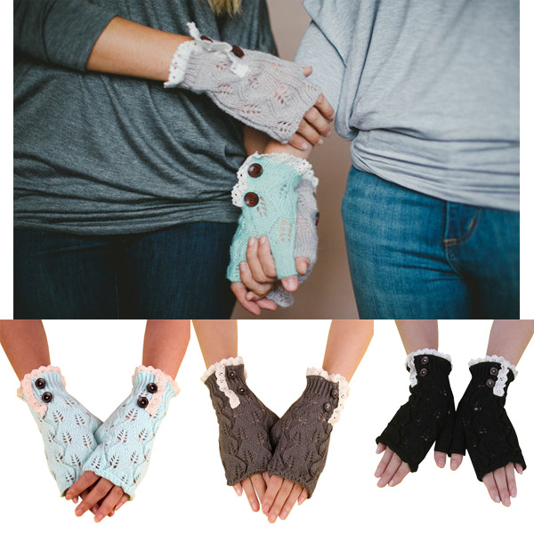 Ladies Mittens Knitting Pattern : C89119a Wholesale Women Knit Mittens New Fashion Lady Mittens Gloves - Buy Fa...