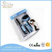 3 PCS In One Set Pet Grooming Kit Contain Of Retractable Dog Brush,Dog Hair Comb,Dog Nail Clipper