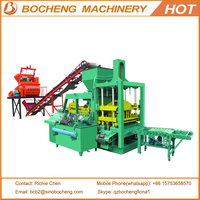 China QT4-20C Hydraulic Building Concrete Hollow Block Moulding Machine