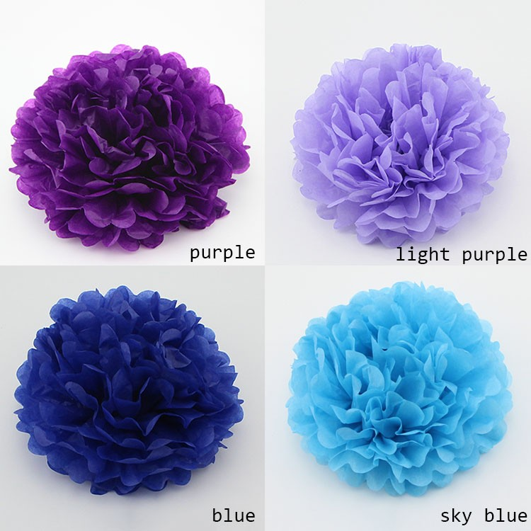 2016 New Products Tissue Paper Flower Balls For Wedding Favor