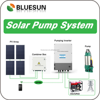 Bluesun competitive price good efficiency solar panel water pump with tuv ce