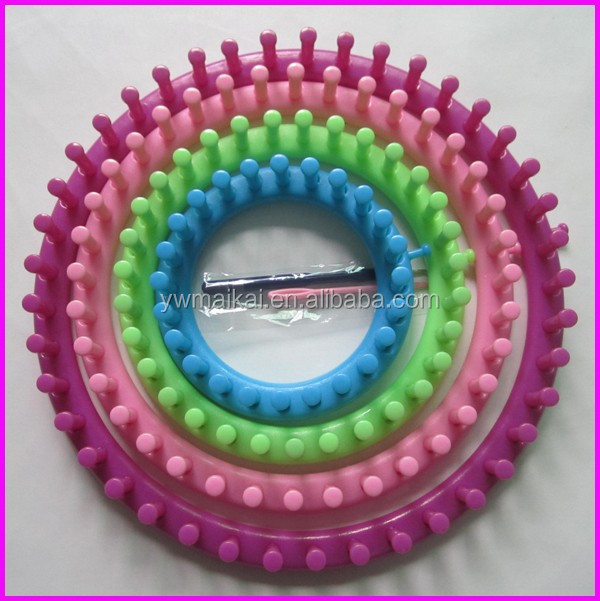 High quality 4pcs/set ABS/plastic round shape knitting loom