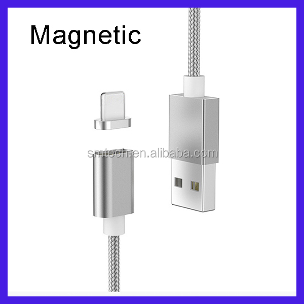 Wholesale 2 in 1 Fast Charging Magnetic Micro Usb Cable For Iphone and Samsung all Smartphones