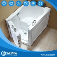 Luxury walk in tub shower combo 1 person hot tub bathtub for disabled people Q376