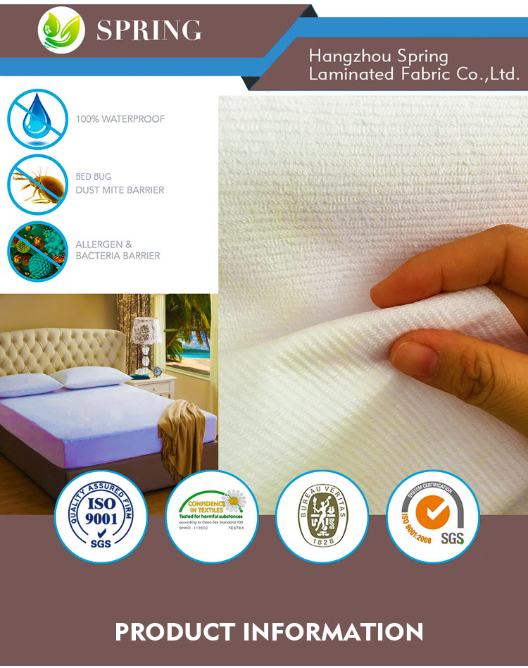 coolmax jacquard knitted hypo allergenic waterproof mattress cover