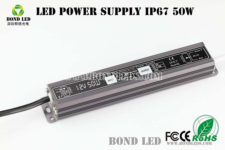 waterproof 50w solar light dc to dc led driver power supply 1500mA