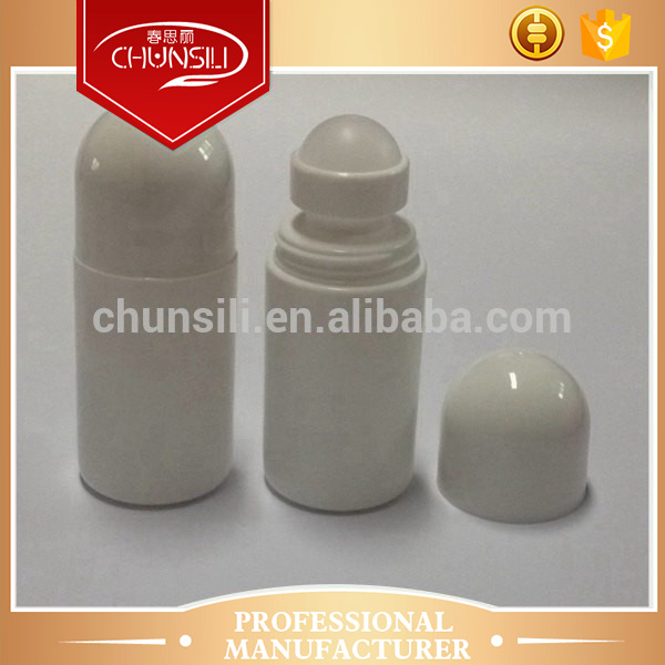 Wholesale 4 parts with holder and ball 50ml roller pharmaceutical plastic bottle