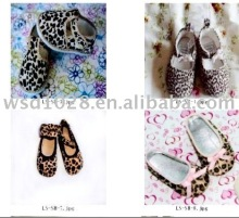 Leopard/Zebra Baby crib Shoes/Animal printed baby shoes JYS00008