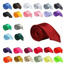 2019 New fashion new skinny men <strong>ties</strong> wedding solid plain necktie color Party Groom Men's neck <strong>tie</strong>