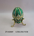 wholesale small faberge egg shaped Jewelry box ,trinket box for weddding gift