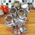 6 pc Magnetic Spice Rack Case