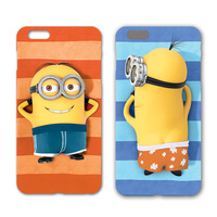 Cell phone case cover for iphone minion 3d silicone case