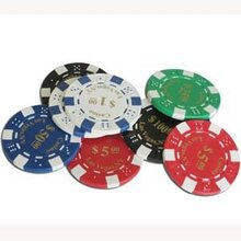 poker chips with 1 color heat print