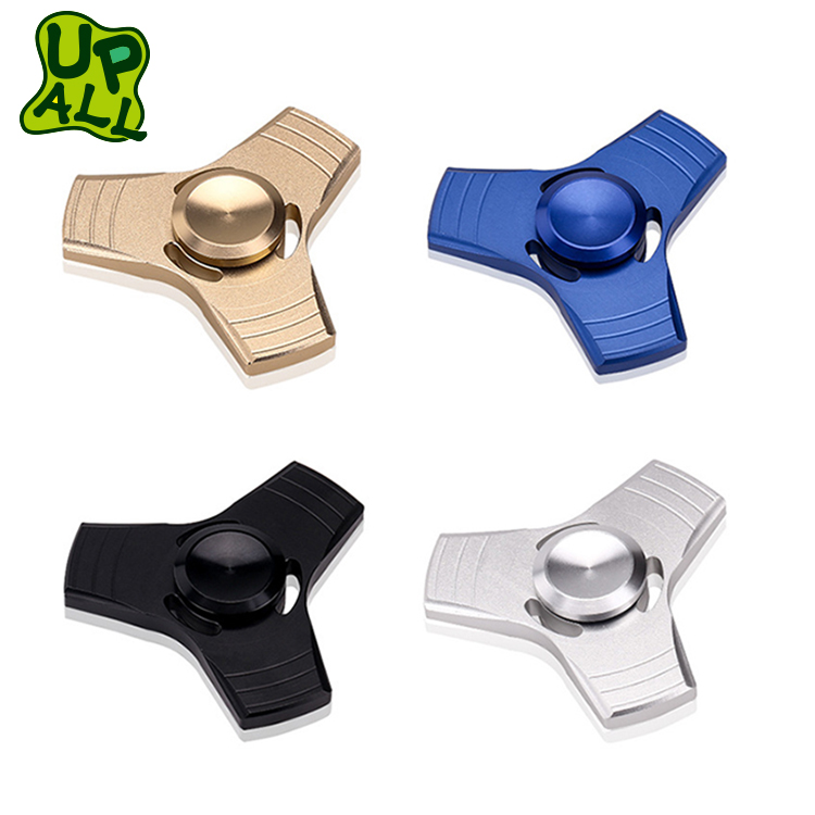 Popular High Speed 608 Bearing Hand Fidgit Spinner Toys High Quality Relieve Stress Solid 3 Fan Alloy Metal Fidget Gyro Spinner